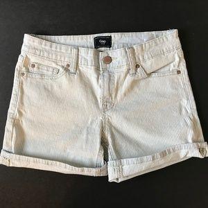 GAP Pinstripe Denim Shorts